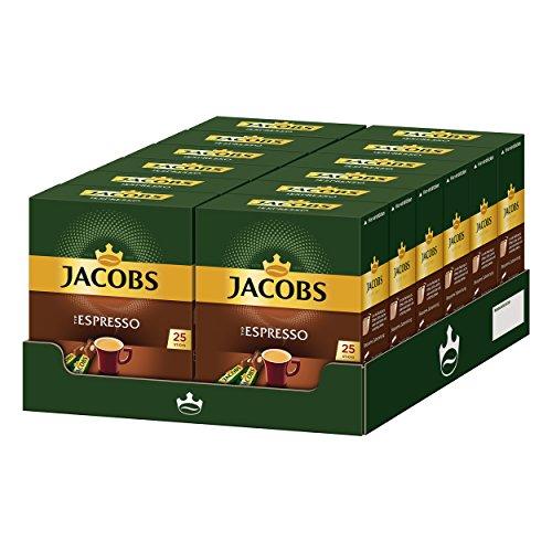 Jacobs Typ Espresso, 12er Pack, löslicher Kaffee, Instantkaffee, Instant Kaffee, je 25 Einzelportionen