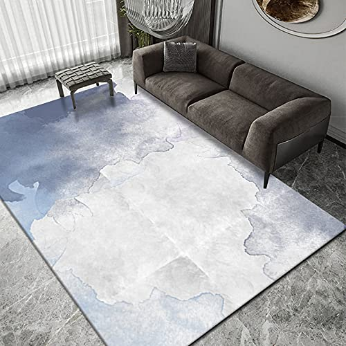 Alfombra De Mosaico De Dormitorio De Pintura De Tinta De Estilo Europeo Alfombra De Mesa De Centro De Sala De Estar Abstracta Alfombra De Oficina Nórdica Se Puede Lavar
