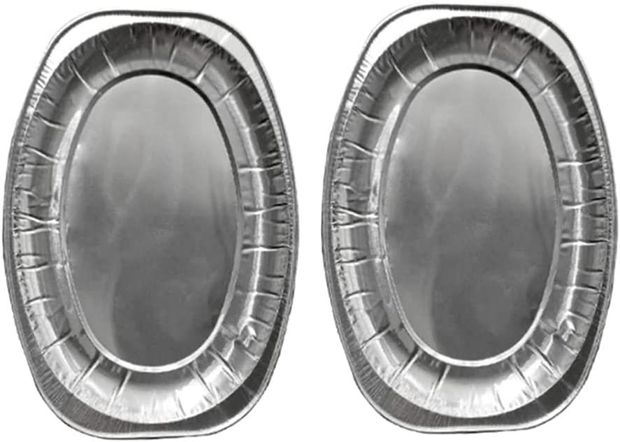 MQXW 20pcs Disposable Oval Serving Plates 2021new shipping free Tray Se Fees free!! Aluminium Foil