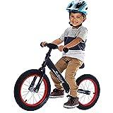 Bicicletas Sin Pedales para Niños Bicicleta De Equilibrio De 14 Pulgadas para 3-7 Años First Bike con Manillar/Asiento Ajustable Y Marco De Aleación De Magnesio,Negro