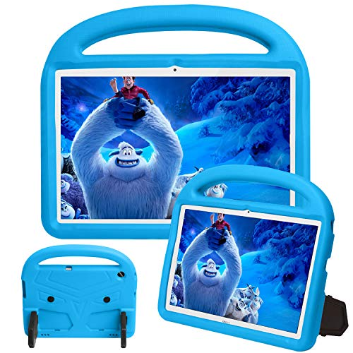 GOZOPO Kids Case for Huawei MediaPad T5 (10.1') - Lightweight Shockproof Case with Kickstand Cover & Handle Kids Friendly Case for Huawei MediaPad T5 (10.1') - Blue