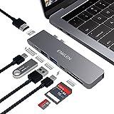 Hub USB C Pour MacBook Pro 2016/2017/2018/2019, adaptateur ENKLEN de type C avec Thunderbolt 3, HDMI 4K, 2 USB 3.1, lecteur de carte SD / Micro SD, port de chargement de type C, gris