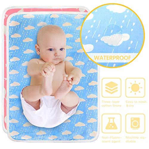 HyAdierTech Bambino Pannolini Tappetino per Cambiare il Pannolino del Bebè, Fasciatoio Baby Riutilizzabile, per il Fasciatoio e il Cambio del Pannolino, Lavabile e Impermeabile