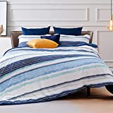 Bedsure Striped Boho Duvet Cover Queen Size - Queen Duvet Cover Comforter Cover Bedding Set with Zipper Closure 3 Pieces, 1 Duvet Cover 90x90 inches and 2 Pillow Cases