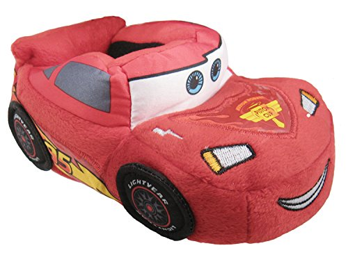 Disney Cars Lightning McQueen Slippers Shoes US Toddler Size 5-6 Red