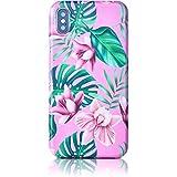 Qult motivoo Flores Carcasa para Móvil Compatible con iPhone XR Mate Slim Design Bumper Case con Dibujos iPhone XR Funda siliconaa Flowers Orquídeas Rosadas