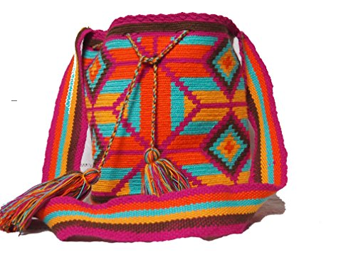 Original WAYUU Schultertasche (Mochila) von der Karibikküste Kolumbiens