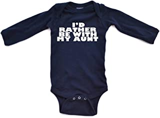 i d rather be with my aunt onesie