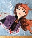 Vorgeschnittener Fleece-Stoff, Elsa, Anna und Olaf, auf