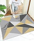 Felpudo de Entrada,Color geométrico 60x90cm,Alfombra de Puerta...
