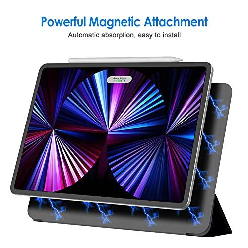 JEDirectiPadPro11ケースモデル対応2021/2020/2018モデルマグネットス吸着式Pencil2対応三つ折スタンドオートウェイクアップ/スリープ機能