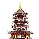 piececool Leifeng Torre Leifeng Tower - Puzzle de metal 3D para adultos, diseño de arquitectura china tradicional, 796 piezas