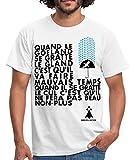 Photo de Spreadshirt Proverbe Breton Quand Le Goéland T-Shirt Homme, XXL, Blanc
