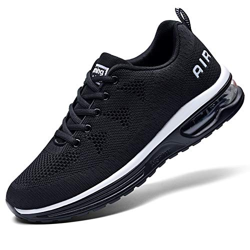 QAUPPE Mens Air Running Sport Shoes Breathable Tennis Sneakers (Black US 11.5 D(M)…