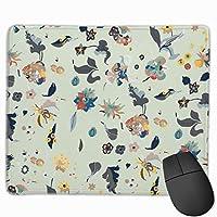 マウスパッド、ステッチエッジ付きマウスパッド、コンピューター用花滑り止めラバーベースゲーミングマウスパッド
