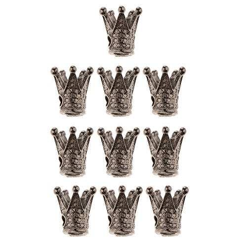 N/A/a Juego de 10 Colgantes de Bricolaje Vintage con Dijes, Colgantes de Joyería para - Cobre Plateado, Individual