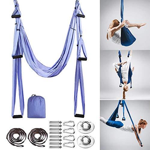 Aerial Hamaca De Yoga, Antigravedad Swing Sling Inversión Accesorios de Montaje incluidos con...