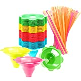 200 Pieces Colorful Flower Cups Reusable Cone Flower Drip Cups Small Bowls Snow Cone Supply Shaved Ice Snacks Ice Cream Bowls with Cone Spoon Straws (4.9 Inch)
