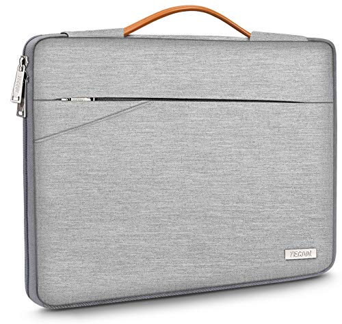 TECOOL 15-15.6 Zoll Laptop Hülle Tasche Notebook Aktentasche Tragetasche Stoßfestes Schutzhülle mit Griff für Lenovo/HP/Dell/Acer/Samsung Laptop Notebook Chromebook, Grau