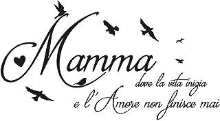 Adesivi murali Frasi Mamma Famiglia camera da letto italiano Wall stickers Frase Festa Mamma Adesivo da muro decorazione