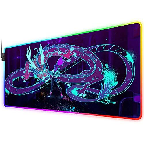 RGB Gaming Mouse Pad for kda Akali …