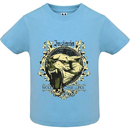 LookMyKase T-Shirt - Canis Lupus - Bébé Garçon - Bleu - 18mois
