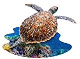 Madd Capp Puzzles Jr. - I AM Lil' Sea Turtle - 100 Pieces - Animal Shaped Jigsaw Puzzle