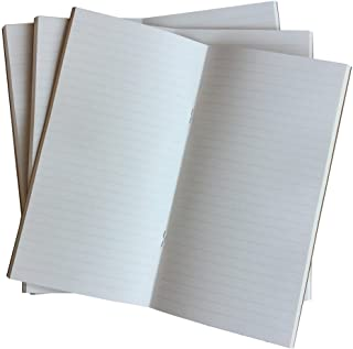 Travelers Notebook Inserts Lined 3-Pack 4.5 x 8.5 Inch 100gsm Thick Standard Size Ruled Refill, 192 Pages. Perfect for Archiving Your Thoughts, Travel Notes