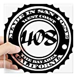 CafePress Made in San Jose Square Sticker Square Bumper Sticker Car Decal, 3'x3' (Small) or 5'x5' (Large)