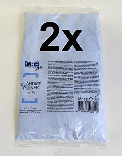 2er Set: M:C Refill - staubfreies Blondierpulver 500 Gramm