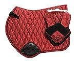 Equipride GP - Sottosella con velo scintillante, colore: Rosso