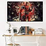 tzxdbh HD Print Wandkunst DC Comics Film Deadpool Ölgemälde auf Leinwand AR Modulare Wandbild Sofa Cuadros Dekor für Wohnzimmer-in Malerei & Kalligraphie von Haus & Garten Gr 40x80 cm...