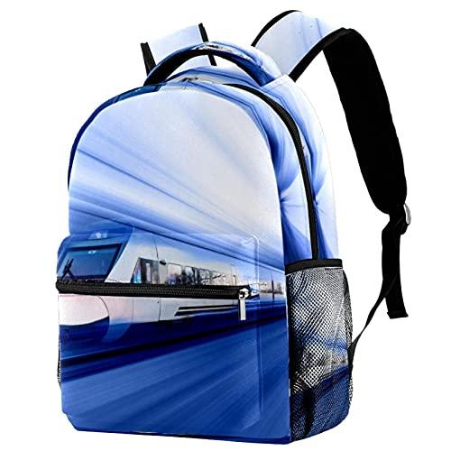 Z&Q Tagesrucksack für Reise Bahngeschwindigkeit ergonomischer Wasserdichter Schulrucksack Persönlichkeit Organisationstalent Rucksack für Mädchen Teenager Jungen 29.4x20x40cm