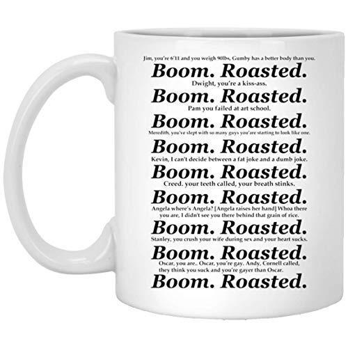 527 Tazze da caffè in ceramica bianca da 311,8 ml Boom arrostito miglior regalo per l'ufficio Holic