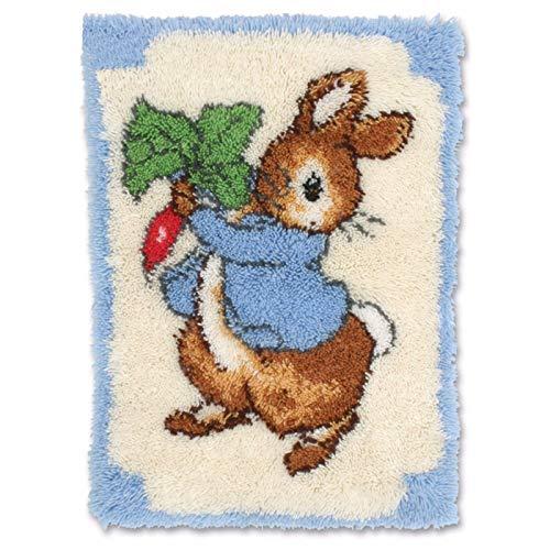 52 × 38 Cm Tapijt Borduurwerk Haak Tapijt Kit Met Crochet Handwerk Ambachten Shaggy DIY Gehaakte Deken Kit Voor Volwassen,C