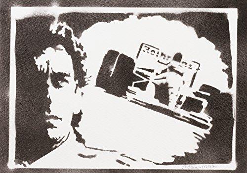 F1 Ayrton Senna Poster Plakat Handmade Graffiti Street Art - Artwork