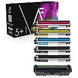5 Alphafax Toner mit Trommel kompatibel zu HP Laserjet Pro MFP M170 Series M176 N M177 FW - CF350A CF351A CF352A CF353A CE314A - Schwarz je 1.300 Seiten Color je 1.000 Seiten, Trommel 14.000 Seiten