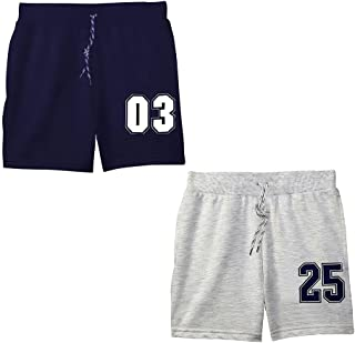 Hopscotch Boys Cotton Knee Lenght Short (Pack of 2) in Multi Color