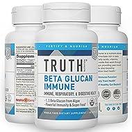 Truth Nutrition Beta Glucan Immune Support Supplement - Algae Based Beta Glucan 1 3D Glucan Immune Booster - 60 Beta Glucan Capsules Non-GMO Yeast Free Immunity Booster Vegan Supplement 375mg