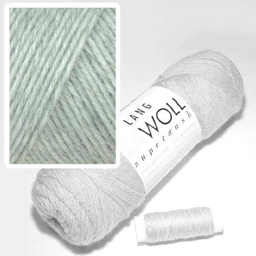 Lang Jawoll Superwash Sockenwolle Farbwahl (23 - hellgrau)