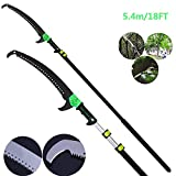 YQ&<span class='highlight'><span class='highlight'>TL</span></span> Telescopic Pole Saw 3.6-7.2M Foot Extendable Telescoping Landscaping Pole Saw Used for pruning and pruning branches and leaves high-altitude fruit tree branch saw 5.4M