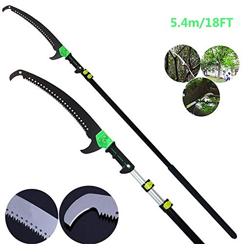 YQ&TL Telescopic Pole Saw 5.4-7.2m Extendable Telescopic Landscaping Pole Saw for Pruning and...