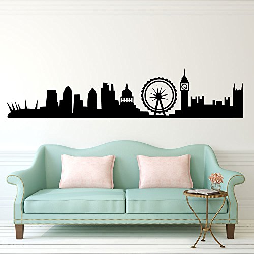 London Skyline British Wall Decorations Window Stickers...