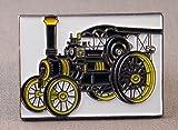 Pin de Metal esmaltado, Insignia Broche de Vapor Motor de tracción Showman Negro