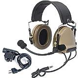 【Z-TAC Official Store】 Z-Tactical Comta II Tactical Headset(Z041-DE)+ U94 PTT Kenwood Push to Talk(Z113-KEN) Noise Reduction Headphone Walkie Talkie Dual PTT for Military Radio
