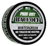 BaccOff, Extra Wintergreen Fine Cut, Premium Tobacco Free, Nicotine Free Snuff Alternative (10 Cans)