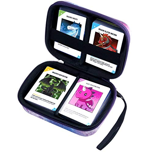 Brappo Solitaire Box for PM TCG Cards, C.A.H and 10 Level Card Game Compatible. The Card Game Box can Hold up to 400 Cards. Provide Removable partitions and Belts