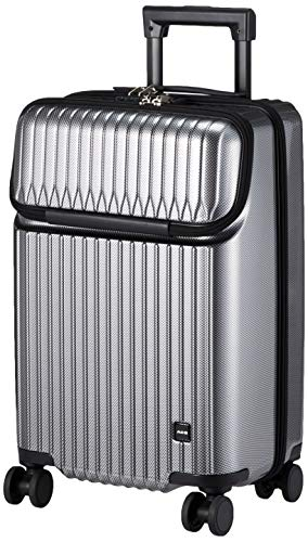 [エース] スーツケース タッシェ キャスターストッパー フロントポケット 機内持ち込み可 34L 50 cm 3.3kg ブラックカーボン