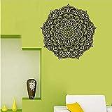 Calcomanías de pared de vinilo con patrón de mandala complejos murales de arte hermosos pegatinas de pared extraíbles decoración del hogar dormitorio 57X57 cm
