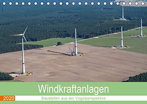 Windkraftanlagen - Baustellen aus der Vogelperspektive (Tischkalender 2018 DIN A5 quer)